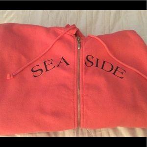 Seaside Florida zip sweatshirt salmon size large